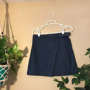 Denim wrap skirt!